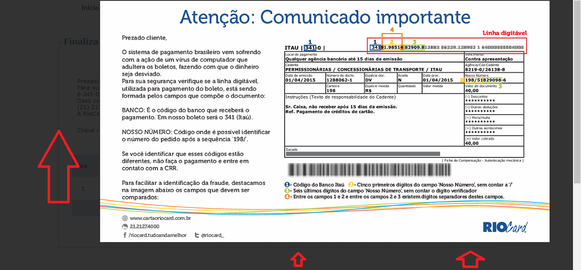impressão bilhete único carioca rj 2