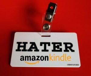 Hater pode fazer resenha e avaliação na loja Kindle (KDP) da Amazon