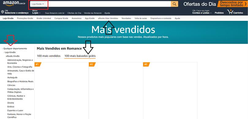 Livros grátis de Romance na Amazon - Como baixar