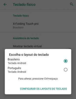 teclado dobrável e bluetoothX-Foldi ng da Samsung - Como acentuar